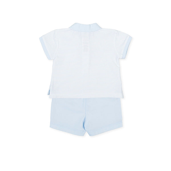 TUTTO PICCOLO White & Blue Short Set