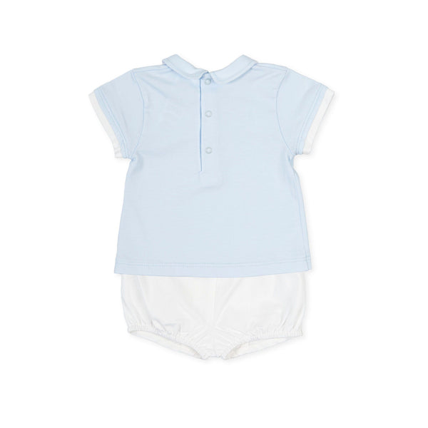 TUTTO PICCOLO Blue & White Short Set