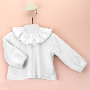 BABIDU White Frill Collar Top (up to 6 years)