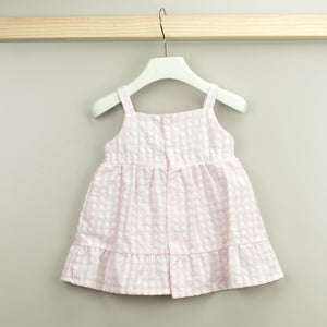 BABIDU Pink & White Alba Dress