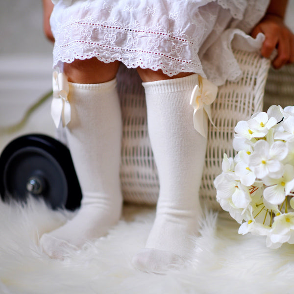 CONDOR Cava Knee-High Sock with Bow
