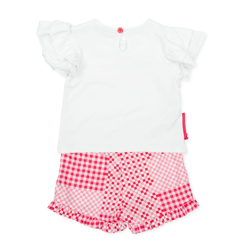 AGATHA Coral T-shirt & Short Set
