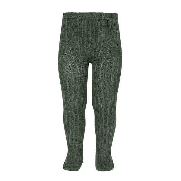 CONDOR Green Ribbed Tights