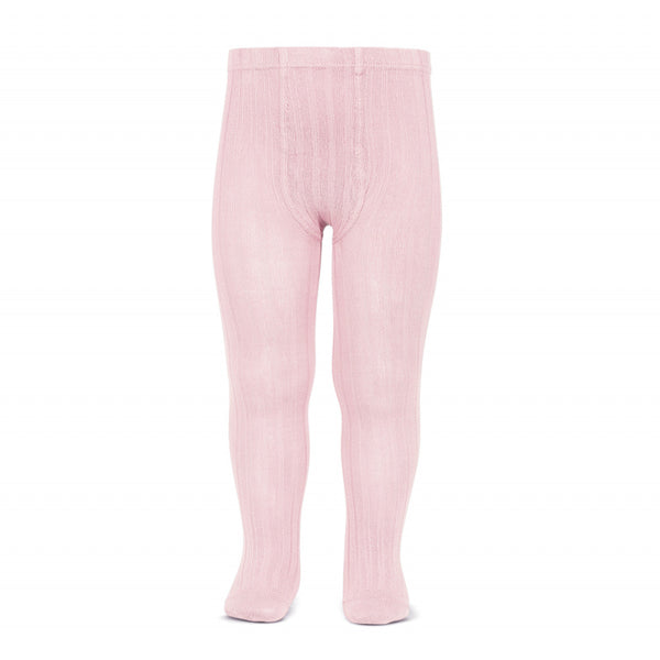 CONDOR Pink Ribbed Tights