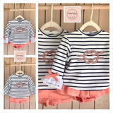 VALENTINA Boys Striped Short Set