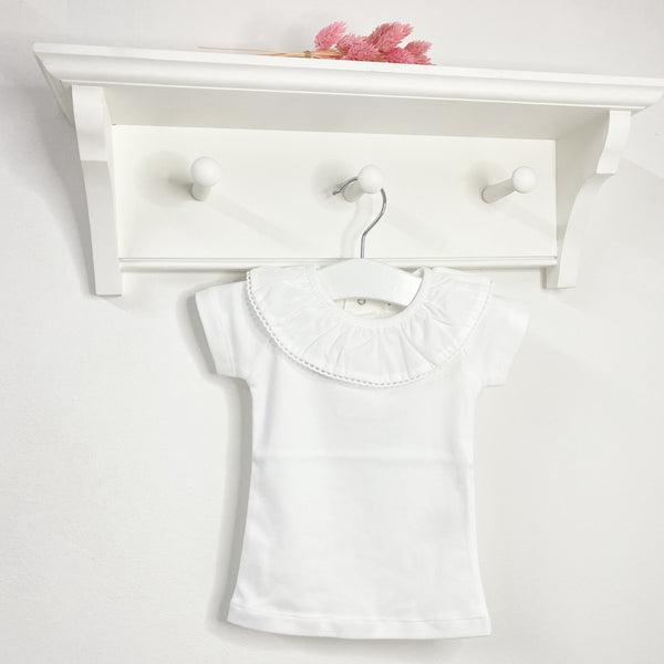 DOT White Frill Collar T-shirt