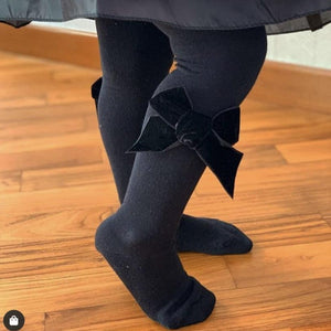 CONDOR Black Velvet Bow Tight