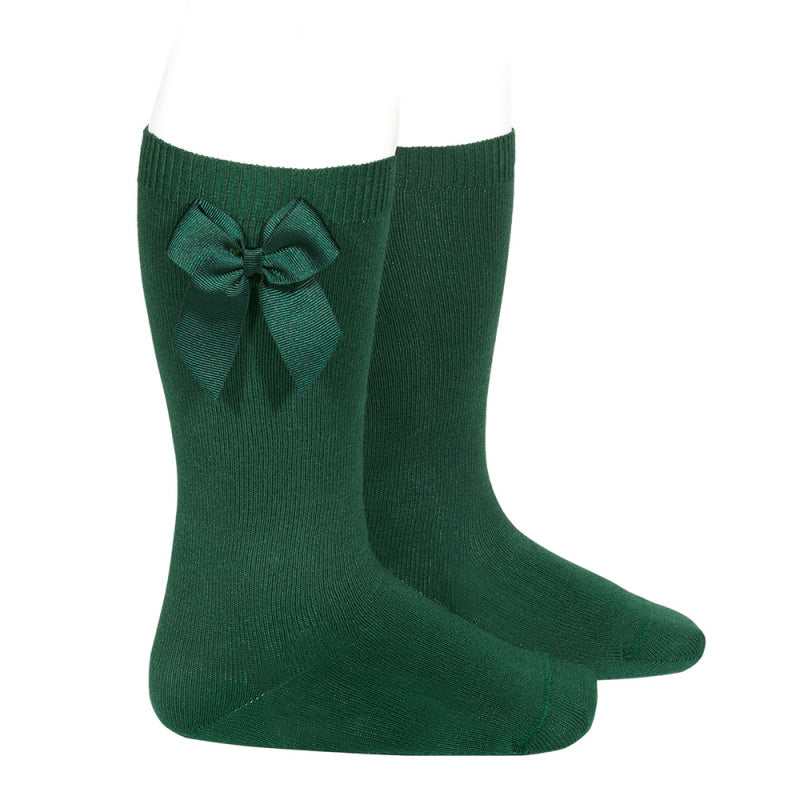 CONDOR Green Knee-High Sock with Bow