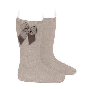 Stone Condor Knee-High Sock with Bow