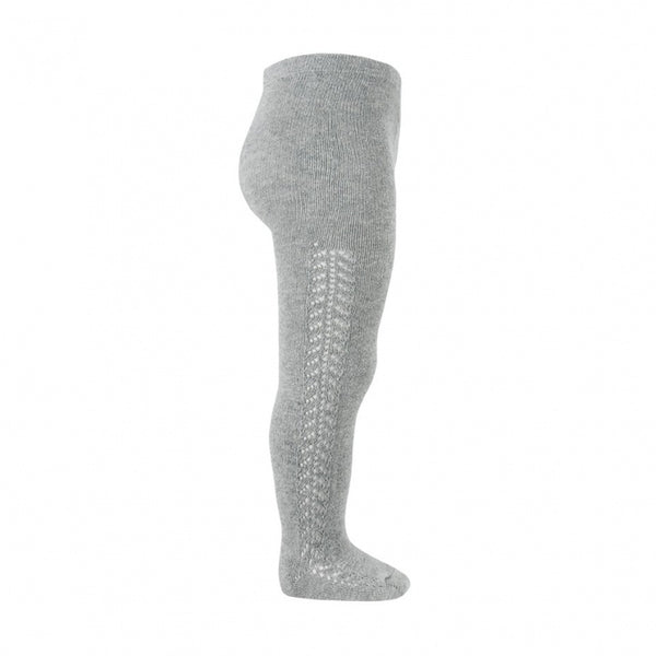 Light Grey Side Openwork Tights