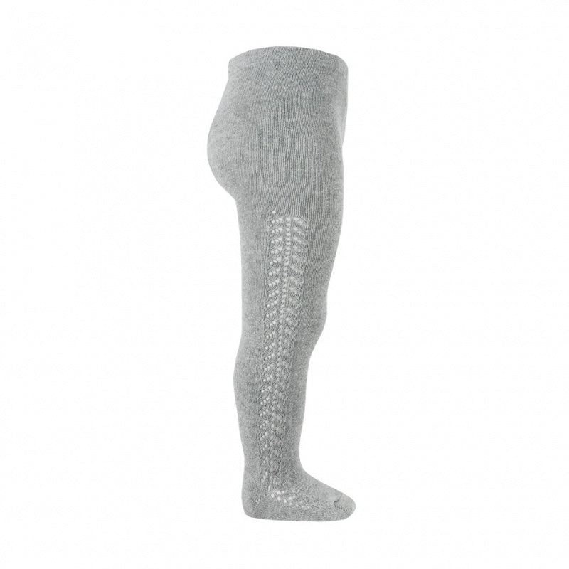 CONDOR Light Grey Side Openwork Tights