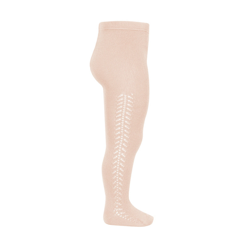 Nude Side Openwork Tights