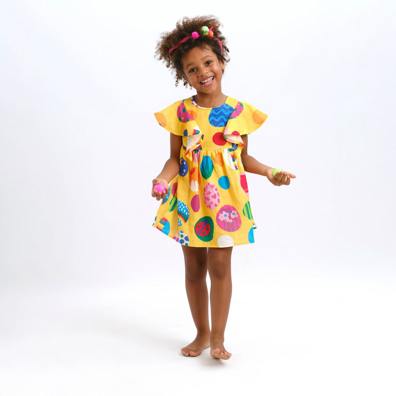 AGATHA Yellow Parque Dress