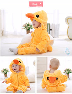 Duck Winter Baby Rompers for boys/girls