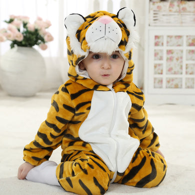 Tiger Winter Baby Rompers for boys girls