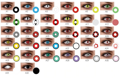 2Pcs Halloween Comfort Eye Contact Lenses