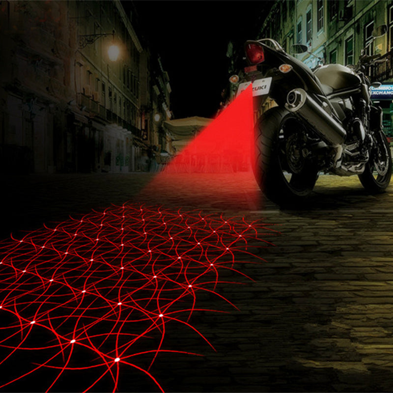 Motorcycle Laser Fog Light Anti Collision Tail Auto Brake Parking Lamp