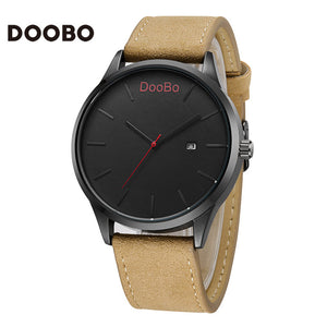 Leather Casual Mens Waterproof Sport Military Watches 2018 5 Colors Available
