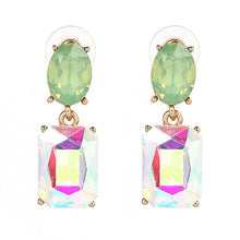 SUSENSTONE Cute Alloy Crystal Inlaid Pendant Earrings New Pendant Long Rhinestone Crystal  Conical pendant