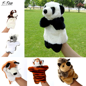 Cute Funny 30cm Mini Animal Plush Hand puppets Tigger Doll Story Educational Toys For Children Kids