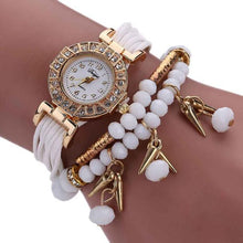 Weave Wrap Around Bracelet Watch  Crystal Synthetic Fashion Chain Watch