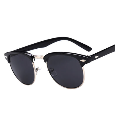 Classic Half Metal Club Sunglasses Men Women Brand Designer Glasses Mirror Sun Glasses
