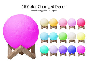 16 Colour LED Moon Night Lamp