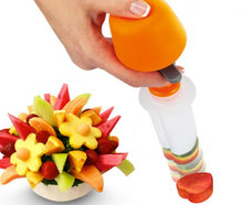 Plastic Press Fruit Cutter Slicer Food Decorator
