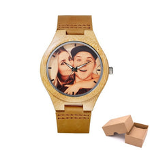 Personalized Wooden Photo Watch