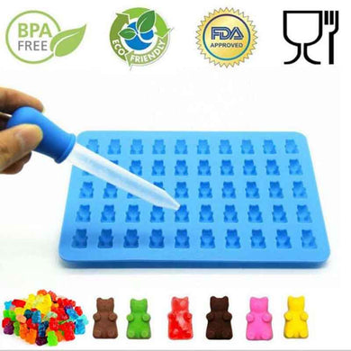 Silicone Gummy Bear Chocolate Mold Candy Maker Ice Tray