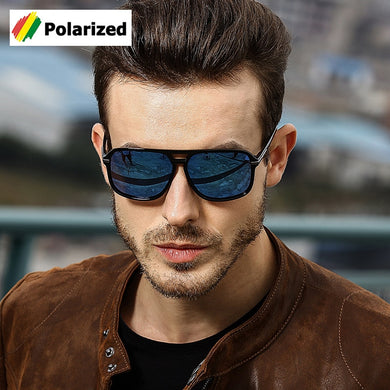 Square Aviation Style Polarized Sunglasses Fashion 2019