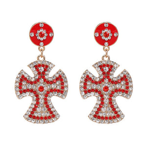 Cross Pendant Earrings