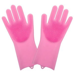 1 Pair Silicone Dish Washing Gloves