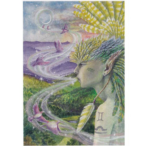 PAGAN WICCAN GREETING CARD Air Spirit WENDY ANDREW Birthday GODDESS