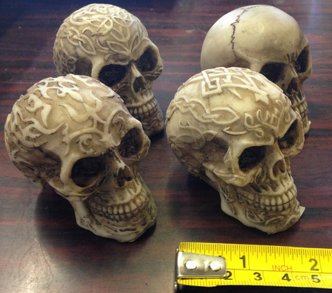 CELTIC SKULL RESIN ORNAMENT 4 Choices PAGAN OCCULT Skeleton Horror GOTHIC ALTAR