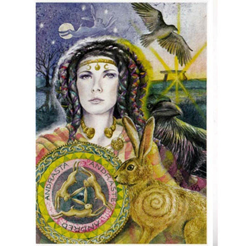 PAGAN WICCAN GREETING CARD Andraste WENDY ANDREW CELTIC GODDESS
