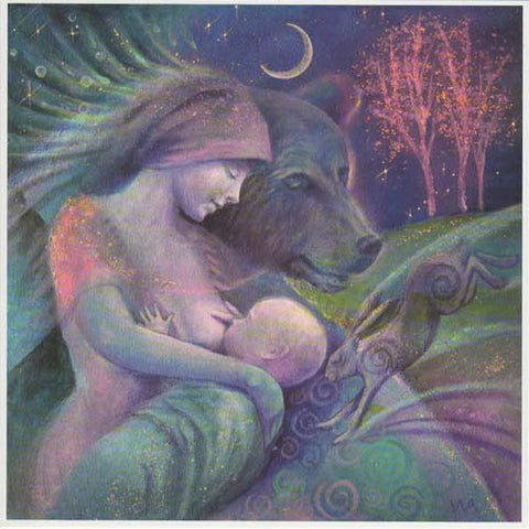 PAGAN WICCAN GREETING CARD Arta Mother Love WENDY ANDREW GODDESS