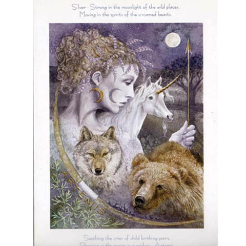 PAGAN WICCAN GREETING CARD Artemis WENDY ANDREW CELTIC GODDESS