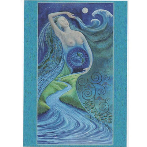 PAGAN WICCAN GREETING CARD Born of Water WENDY ANDREW Birthday CELTIC GODDESS