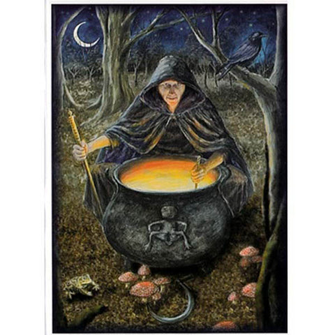 PAGAN WICCAN GREETING CARD Crone Goddess WENDY ANDREW Birthday GODDESS