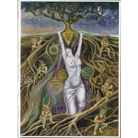 PAGAN WICCAN GREETING CARD Earth Spirit WENDY ANDREW Birthday GODDESS