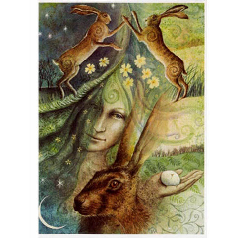 PAGAN WICCAN GREETING CARD Eostre WENDY ANDREW CELTIC GODDESS