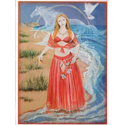 PAGAN WICCAN GREETING CARD Goddess of Love WENDY ANDREW Birthday GODDESS