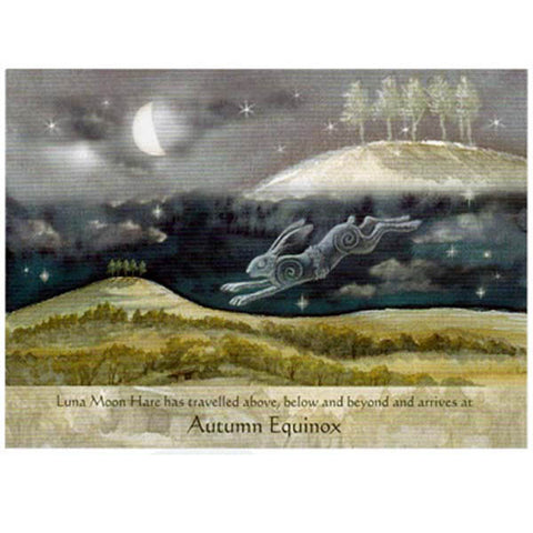 PAGAN WICCAN AUTUMN EQUINOX Luna Hare GREETING CARDS WENDY ANDREW
