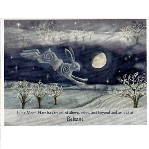 BELTANE MAYDAY FESTIVAL GREETING CARD Luna Hare PAGAN WENDY ANDREW