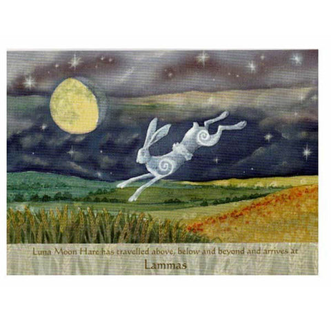LAMMAS FESTIVAL GREETING CARD Luna Hare PAGAN Celtic WENDY ANDREW