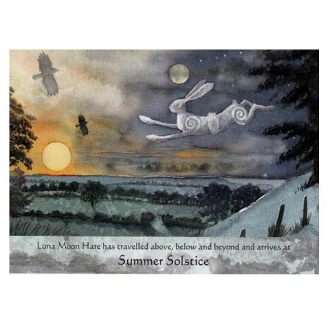 PAGAN WICCAN SUMMER SOLSTICE Luna Hare GREETING CARDS WENDY ANDREW