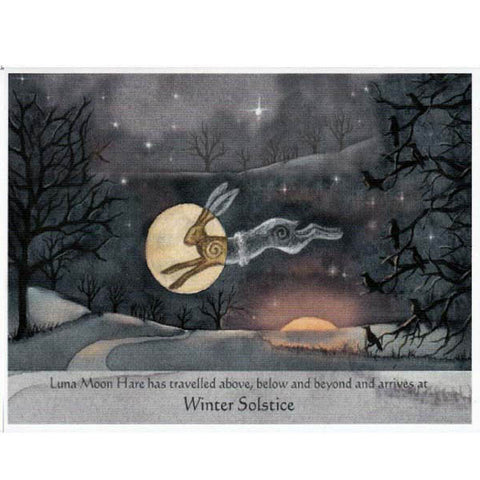 PAGAN WICCAN WINTER SOLSTICE Luna Hare GREETING CARDS WENDY ANDREW