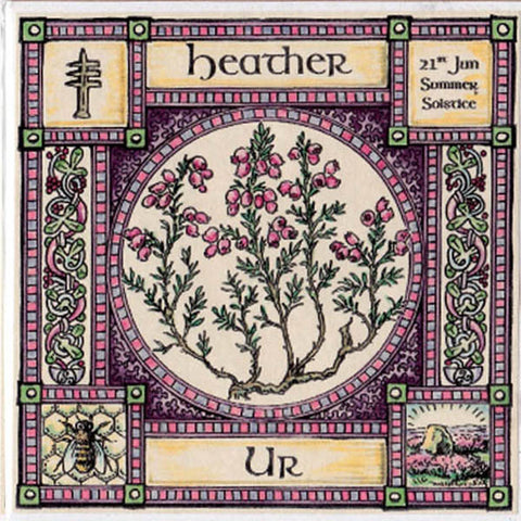 HEATHER TREE SUMMER SOLSTICE GREETING CARD CELTIC PAGAN Ogham HEDINGHAM FAIR