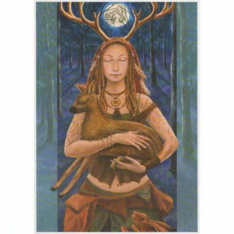 PAGAN WICCAN GREETING CARD Lady Wildwood WENDY ANDREW CELTIC GODDESS